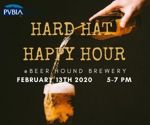 Hard Hat Happy Hour – Feb. 13, 2020 – Beer Hound Brewery