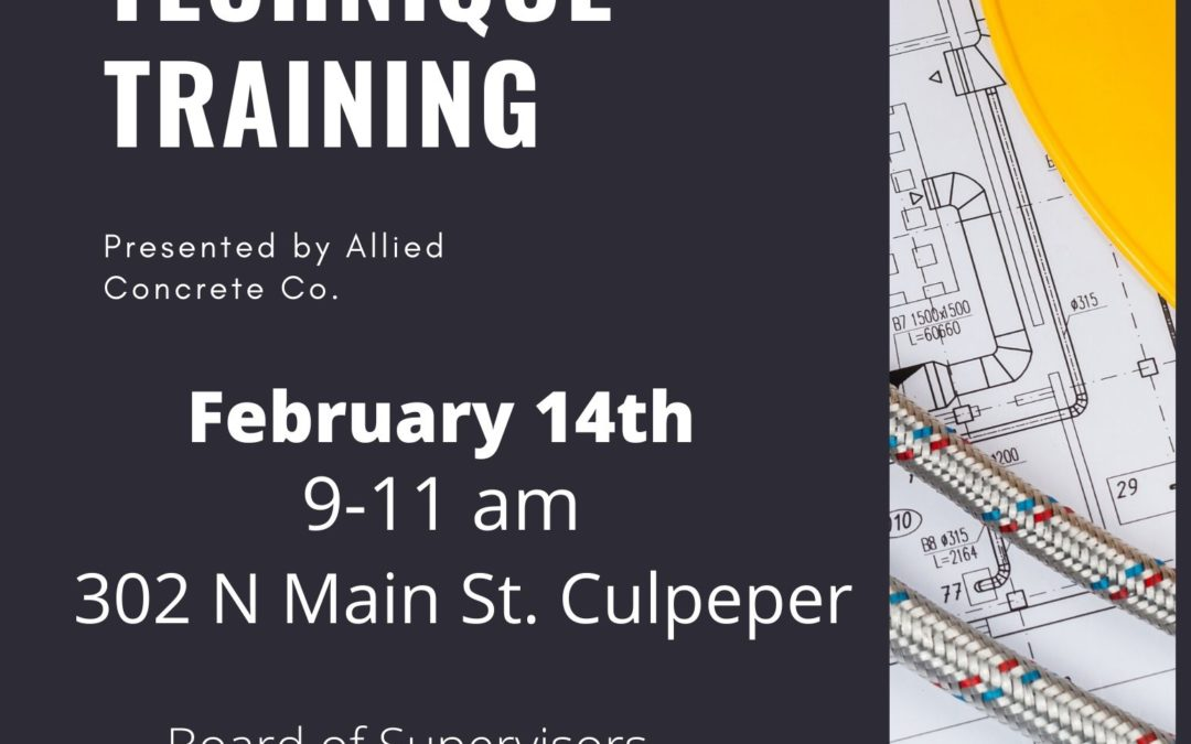 Concrete Technique Training – Feb. 14, 2020